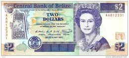 BELIZE $2 PURPLE WOMAN QEII FRONT & MAYA TEMPLE BUILDING BACK DATED 01-09-2007 EF P66 READ DESCRIPTION!! - Belize