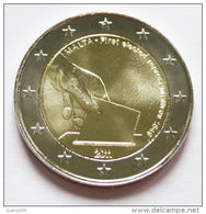 2 Euro Commémorative Malte 2011 UNC RARRISSIME 375.000 EX SEULEMENT - Malta