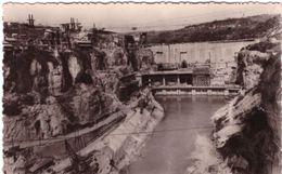 Barrage De Genissiat Vue De L'usine Et Du Canal De Fuite - Génissiat