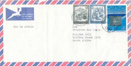 Austria Air Mail Cover Sent To South Africa Schwarzenberg 12-2-1989 (bended Cover) Hologram Stamp - 1945-.... 2ème République