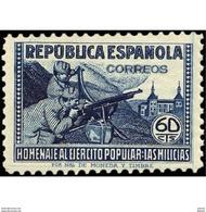 ES796STV-LTV***796STAN.Spain.Esgane .Militar.HOMENAJE AL EJERCITO POPULAR.1938(Ed 796**) - 1931-50 Nuevos & Fijasellos
