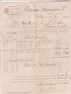 Lettre Facture 11/6/1909 ERASME SIMONNOT Charbons Cette ( Sète ) - France