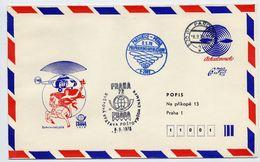 CZECHOSLOVAKIA 1978 Postal Stationery Airmail Envelope For PRAGA 1978 With Printed Address, Used.  Michel LU2A - Sobres