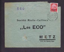 ENVELOPPE COMMERCIALE OCCUPATION ALLEMANDE ELSASS ALSACE KOLMAR Vers METZ Sté MIELLE-CAILLOUX LES ECO 1941 660 - Occupazione 1938 – 45