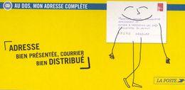 Carte La Poste Changement D'adresse Avec Illustration Du N°3417 (2001) - Werbung