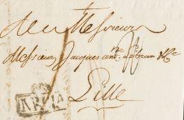 Murcia. Prefilatelia. SOBRE. 1778. MURCIA A LILLE (FRANCIA). Marca MRCIA (P.E.3) Edición 2004. MAGNIFICA Y RARA. - Spain