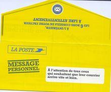 Carte Pub La Poste Conseils Facteur Avec Illustration Du N°3417 (2001) - Werbung