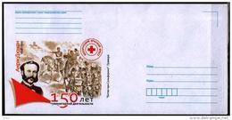 Belarus 2013  Cover Jean Henri Dunant 150 Years Humanitarian Work Red Cross Battle Of Solferino Horses - Red Cross
