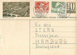 """PK 182  """"Eglisau Am Rhein""""             1956 - Entiers Postaux"""