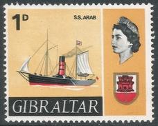 Gibraltar. 1967-69 Ships. 1d MH. SG201 - Gibraltar