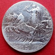 ♕♕  Italie : 1 Lire ' Vittorio Emanuele III ' 1913 R  ♕♕ - 1900-1946 : Victor Emmanuel III & Umberto II