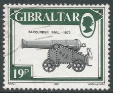 Gibraltar. 1987 Guns. 19p Used. SG 576 - Gibraltar