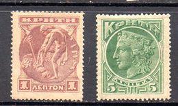 CRETA.   AÑO 1900. Yv 1/2 (MH) - Crete