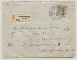Nederland - 1935 - 21 Cent Veth Op R-cover Van Scheveningen Stevinstraat Naar Amsterdam - Brieven En Documenten