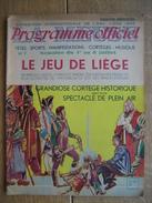Programme Officiel De L'EXPOSITION INTERNATIONALE DE L'EAU, LIEGE 1939 - N°7 - 28 PAGES - Programs