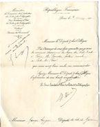 LETTRE DE NOMINATION  MR GOURDES FACTEUR RURAL A PONT DU CASSE  -  MR GEORGES LEYGUES  -  LETTRE 1905 - Manuscripten