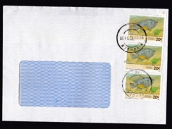 Namibia: Window Cover, 1992, 3 Stamps, Blue Kurper Fish, Animal (middle Stamp Damaged) - Namibië (1990- ...)