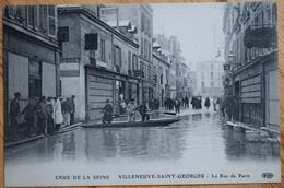 94 : Villeneuve-Saint-Georges - Crue De La Seine - La Rue De Paris - Animée : Belle Animation -(n°8482) - Exhibitions