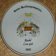 Schuttersbord Retabel Lam Gods 1985 - Tir à L'Arc