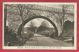 Malmedy - Pont Du Chemin De Fer à Travers La Route De Stavelot ( Voir Verso ) - Malmedy