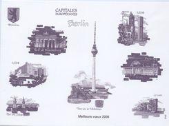 """Feuillet  LaPoste Souhaitant Les """"Meilleurs Voeux 2006"""" Avec L'illustration Des N° 3810 Au 3813 Ou BF88 -(2005) - Werbung"""