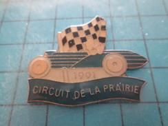 Pin411b Pin´s Pins / Beau Et Rare / AUTOMOBILE : VOITURE ANCIENNE CIRCUIT DE LA PRAIRIE 1991 DRAPEAU A DAMIER - Pin's