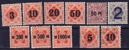 Württemberg 1919-23. Dienstmarken - Baden