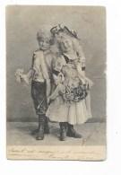 BAMBINI IN POSA PRIMI 900 - CART. FOTOGRAFICA VIAGGIATA 1903  FP - Altri