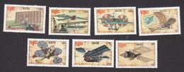 Cambodia, Scott #797-803, Mint Hinged, Early Aricraft, Issued 1987 - Cambodge