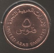 UAE 5 FILS 1425 (2005) Sultan Zayed Bin FAO KM# 2.2 Poisson ( Lethrinus Nebulosus) - Emirats Arabes Unis