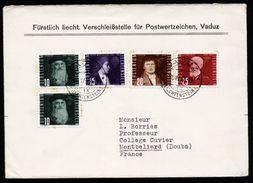 A4768) Liechtenstein Brief Von Versandstelle Vaduz 20.4.48 Nach France - Liechtenstein