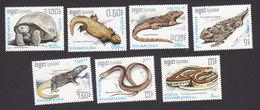 Cambodia, Scott #805-811, Mint Hinged, Reptiles, Issued 1987 - Cambodia