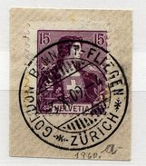 A4769) Schweiz Briefstück 1909 Gordon Bennett Stempel + Teilabschlag 1932 - Gebraucht