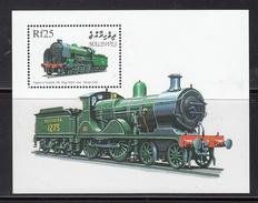"Trein, Trains, Railway, Eisenbahn: Maldives 1999 Mi Nr Blok 431 ""King Arthur"" - Trains"