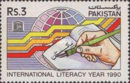 PAKISTAN MNH** STAMPS , 1990 International Literacy Year - Pakistan