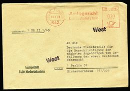 """A4770) Bund Dienstbrief Von Niederlahnstein 1969 Nach Berlin Stempel """"West"""" - Briefe U. Dokumente"""