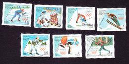 Cambodia, Scott #833-839, Mint Hinged, Winter Olympics, Issued 1988 - Cambodia