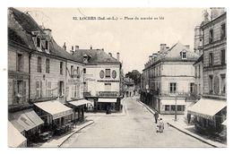 (16254-37) Loches - Place Du Marché Au Blé - Commerce - Quincaillerie Café - Loches
