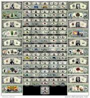 LOT X 50 BILLETS De COLLECTION – Les 50 ETATS AMERICAINS DOLLAR US! USA Etats-Unis D'AMERIQUE Etudes Histoire Géog - Billets De La Federal Reserve (1928-...)