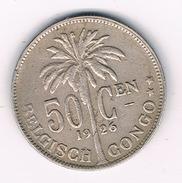 50 CENTIMES 1926 BELGISCH CONGO /1529D/ - Congo (Belge) & Ruanda-Urundi