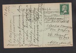 FRANCE / 1923 / Y&T N° 170 : Pasteur 10c Vert - Sur CP Du 25/04/1924 - 1921-1960: Modern Period
