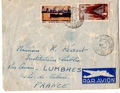 Lettre Par Avion De Nouméa (23.01.1950) Pour Lumbres - Nouvelle-Calédonie
