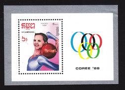 Cambodia, Scott #851, Mint Hinged, Summer Olympics, Issued 1988 - Cambodge