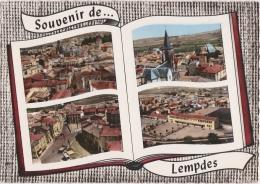 Bg - Cpsm Grand Format Souvenir De LEMPDES - Vue Générale, église, Place De La Mairie, Groupe Scolaire (Lapie) - Lempdes