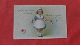 > Red Cross Come & Take Your Medicine  Has Crease  Ref 2655 - Red Cross