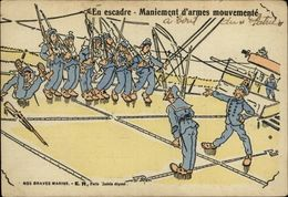 MILITARIA - Nos Braves Marins - En Escadre - - Humoristiques