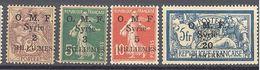 """Syrie: Yvert N° 25/29*; Le 29 Signé """"Brun"""" - Syrien (1919-1945)"""