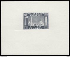 CORPO POLACCO (Campagna D´Italia) - Vittorie Polacche In Italia - Foglietto (mm 46x109)  1 Z. Grigio / BOLOGNA - 1946 - 6. 1946-.. Republik