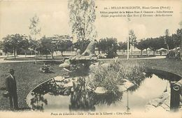 PIE 17-T-4424 :  BELLO HORIZONTE. MINAS-GERNES. PLACE DE LA LIBERTE - Belo Horizonte