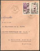 Algérie Surcharge Manuelle EA Sur Lettre Recommandée De Beni - Abbes Sur 0.45 Kérrata Et Tlemcen  Oblitéré 13 Sept. 1962 - Algeria (1962-...)